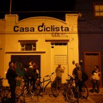 The crew in front to the Casa Ciclista getting ready to head out for pulque!